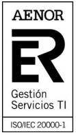 Certificación AENOR Gestión Servicios TI